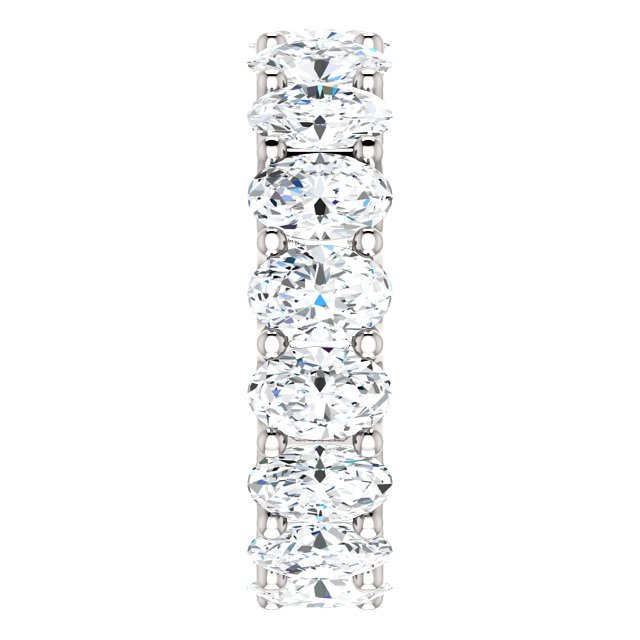 Item # SO128869700PP - Oval Diamond Eternity Band View-4
