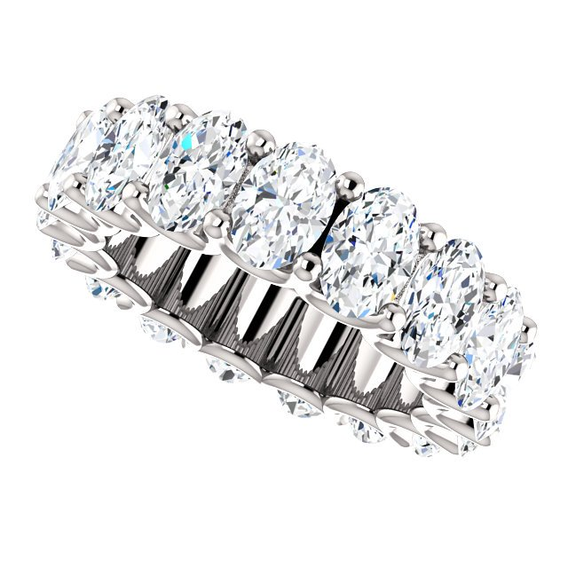 Item # SO128869700PP - Oval Diamond Eternity Band View-5
