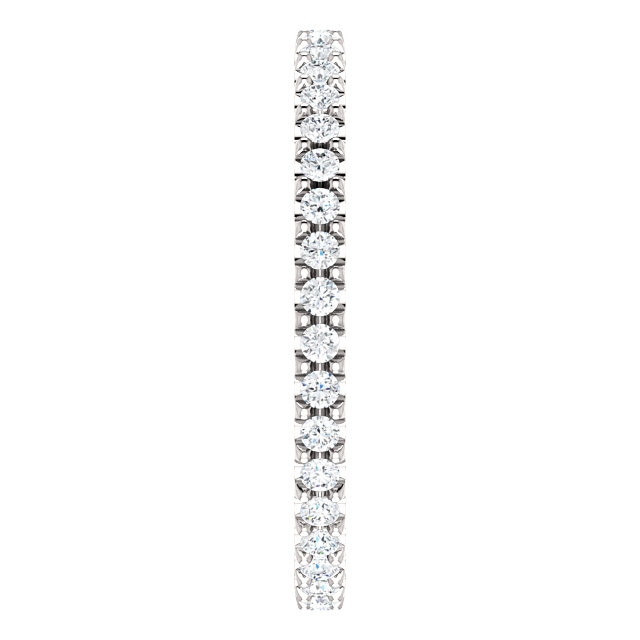 Item # SR127714038W - White Gold Eternity Band View-4