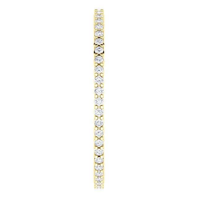 Item # SR127785025 - Gold Diamond Eternity Band 0.25CT View-4