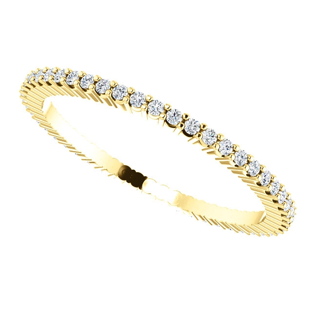 Item # SR127785025 - Gold Diamond Eternity Band 0.25CT View-5