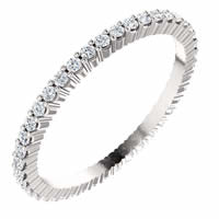 Item # SR127785038PP - Platinum Diamond Etyernity Band