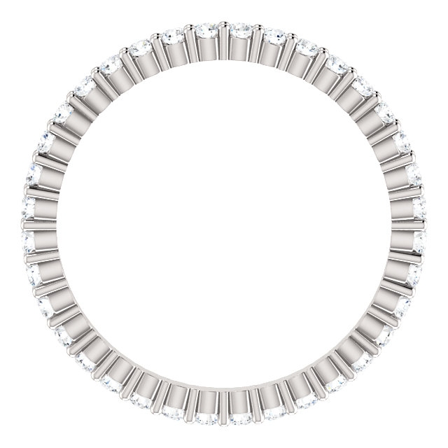 Item # SR127785050WE - 18K White Gold Eternity Band View-2