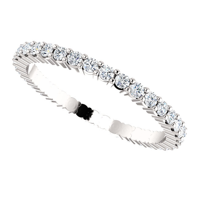 Item # SR127785050WE - 18K White Gold Eternity Band View-5