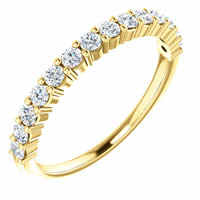 Item # SR128555050 - Gold Anniversary Band. 0.50CT