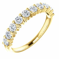 Item # SR128555075E - 18K Gold Anniversary Ring. 0.75CT
