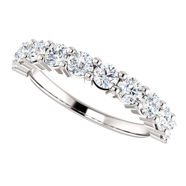 Item # SR128555100W - White Gold Anniversary Ring. 1.00CT View-5