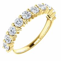 Item # SR128555100 - Gold Anniversary Ring. 1.0CT