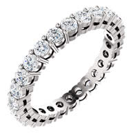 Item # SR128658100WE - 18K White Gold Eternity Band
