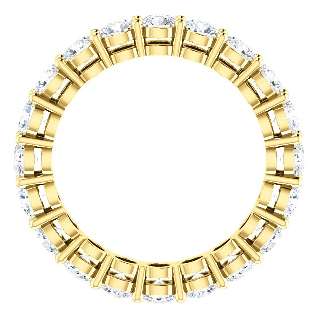 Item # SR128658200E - Yellow Gold Eternity Band View-2