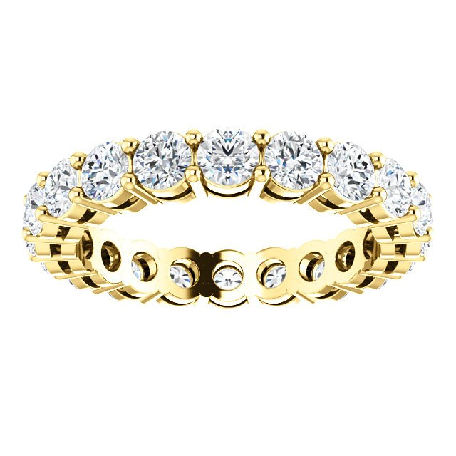 Item # SR128658200E - Yellow Gold Eternity Band View-3