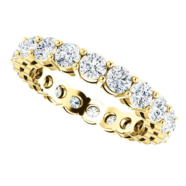Item # SR128658200E - Yellow Gold Eternity Band View-5