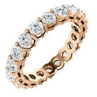 Item # SR128658200R - Rose Gold 2.0CT TW Diamond Eternity Band