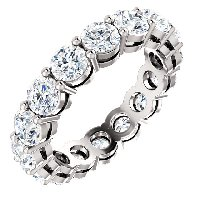 Item # SR128658275WE - 18K White Gold Eternity Band. 2.75CT TW Diamonds