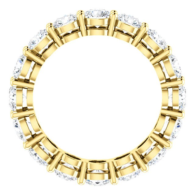 Item # SR128658350E - Yellow Gold Eternity Band View-2