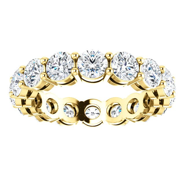 Item # SR128658350E - Yellow Gold Eternity Band View-3