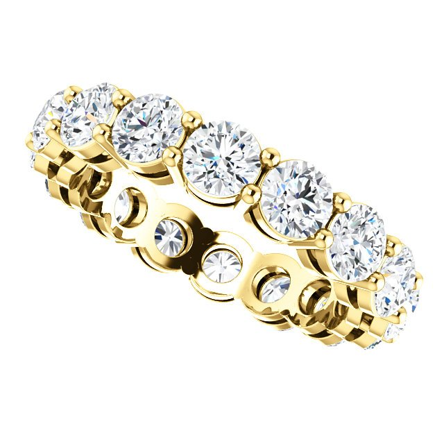 Item # SR128658350E - Yellow Gold Eternity Band View-5