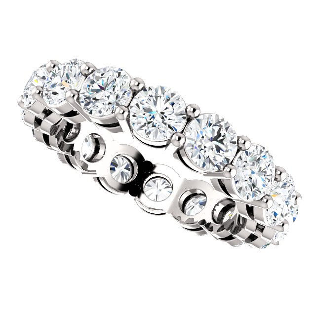 Item # SR128658350PP - Platinum Eternity Band View-5