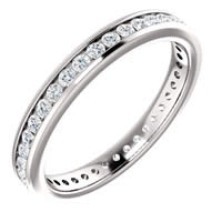 Item # SR128774050PP - Platinum Eternity Band. 0.50CT