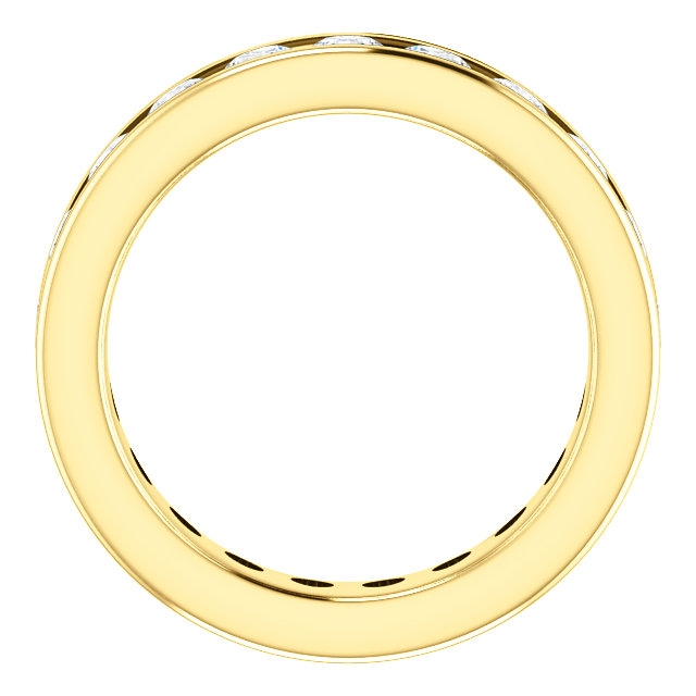 Item # SR128774210E - Yellow Gold Eternity Band View-2