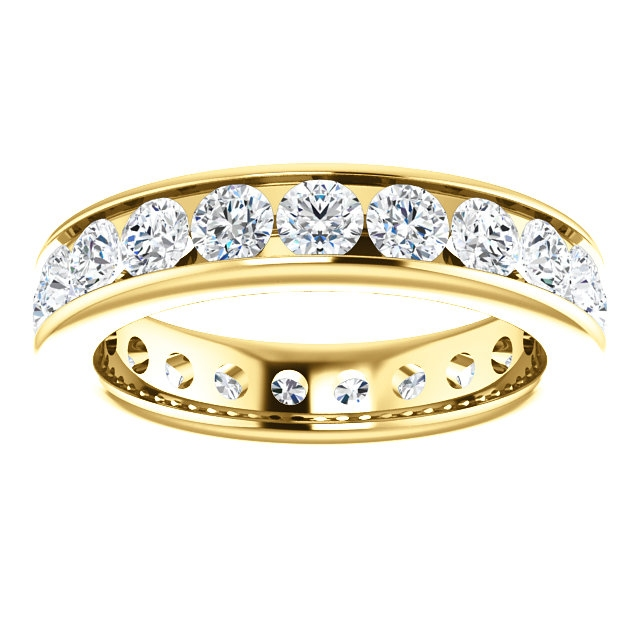 Item # SR128774210E - Yellow Gold Eternity Band View-3