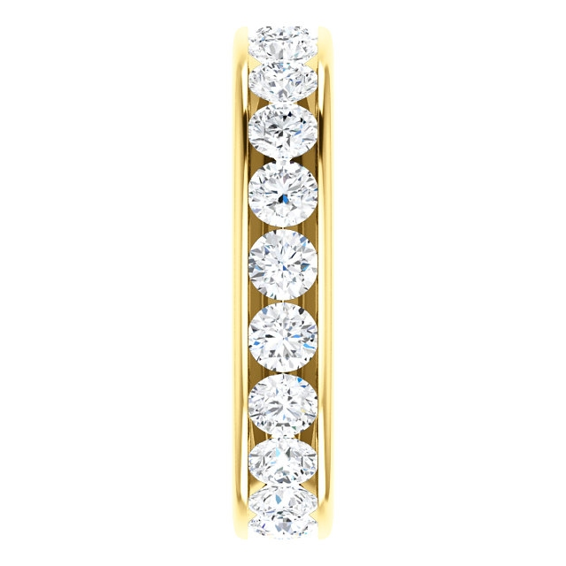Item # SR128774210E - Yellow Gold Eternity Band View-4