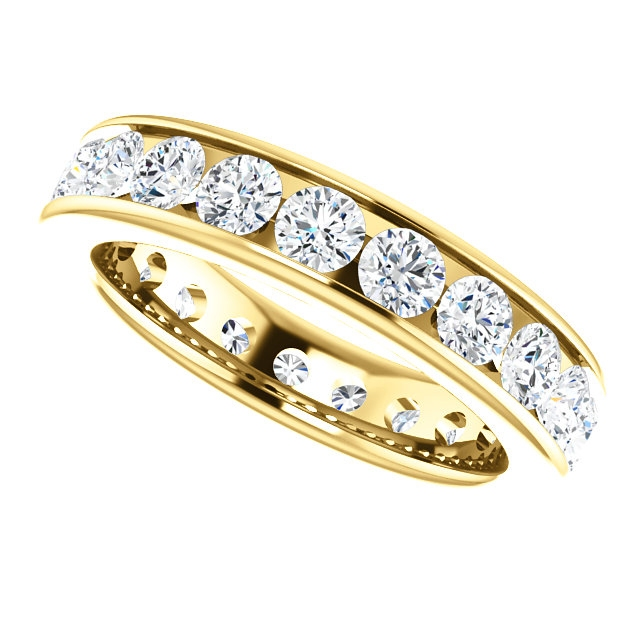 Item # SR128774210E - Yellow Gold Eternity Band View-5