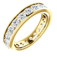 Item # SR128774210 - Gold Eternity Band
