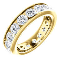 Item # SR128774350E - Yellow Gold Eternity Band