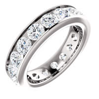Item # SR128774350WE - White Gold Eternity Band