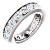 Item # SR128774450PP - Platinum Eternity Band. 4.5CT