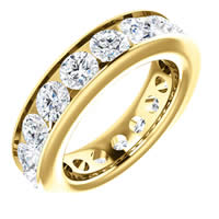 Item # SR128774450 - Yellow Gold Eternity Band