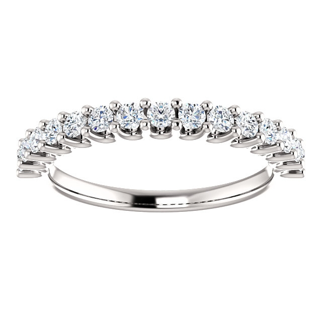 Item # SR128858050W - Eternal-Love Anniversary Band 14K White Gold. 0.50CT View-3
