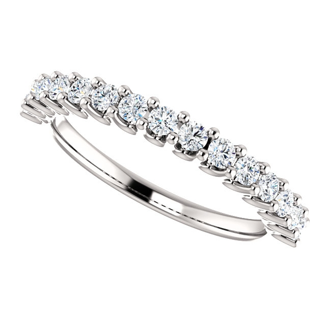 Item # SR128858050W - Eternal-Love Anniversary Band 14K White Gold. 0.50CT View-5