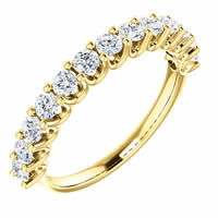 Item # SR128858075E - 18K Gold Eternal-Love Anniversary Ring. 0.75CT