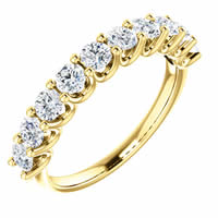Item # SR128858100E - 18K Gold Eternal-Love Anniversary Ring. 1.0CT