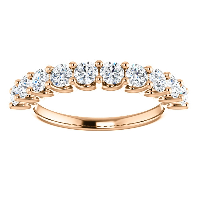 Item # SR128858100R - Rose Gold Eternal-Love Anniversary Ring. 1.0CT View-3