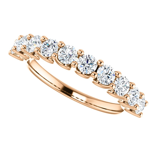 Item # SR128858100R - Rose Gold Eternal-Love Anniversary Ring. 1.0CT View-5
