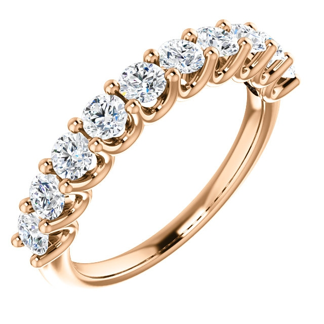 Item # SR128858100R - Rose Gold Eternal-Love Anniversary Ring. 1.0CT View-1