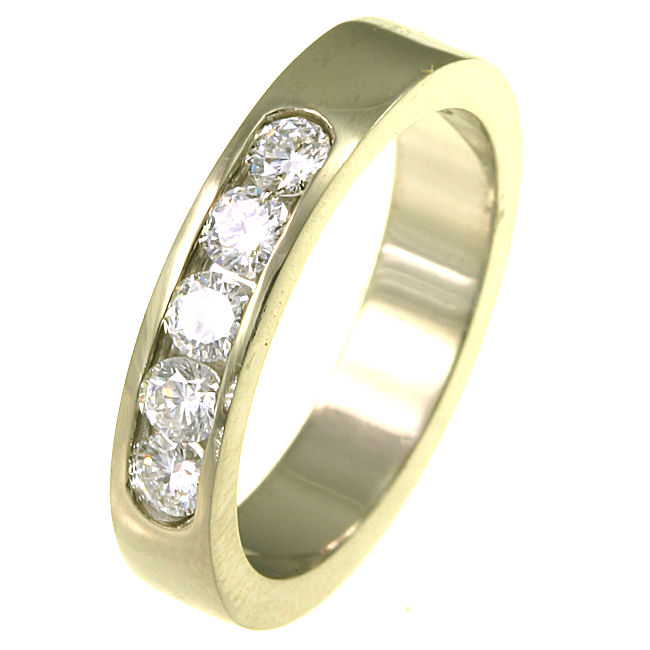 Item # ST10881E - Diamond Wedding Band View-1