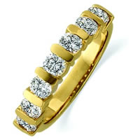 Item # ST11699E - 18K Gold Diamond Anniversary Band