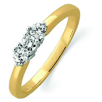 Item # ST12022425 - 14K Gold Three Diamonds Anniversary Band
