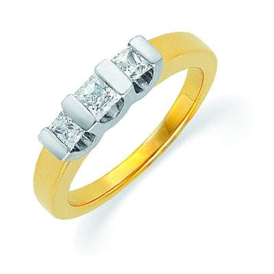 Wedding Band Womens on Gold Three Diamonds Anniversary Band  0 50ct  Tw   By Weddingbands Com