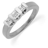 Item # ST120667W - 14K Gold Three Diamonds Anniversary Band