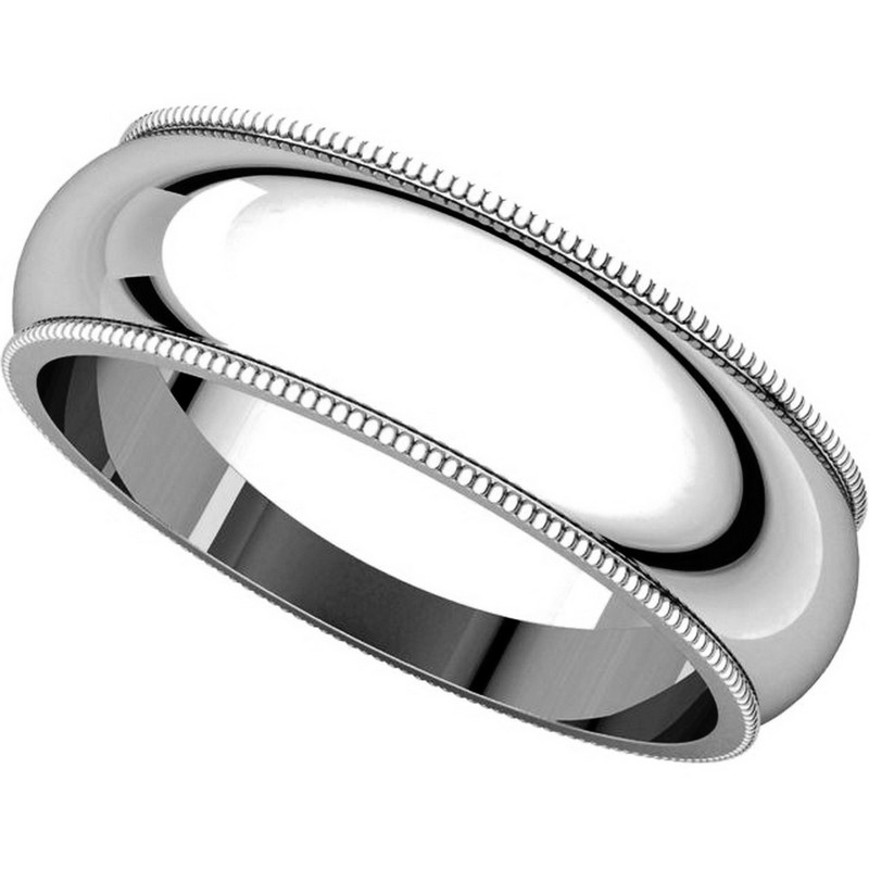 Item # T123881W - 14K Comfort Fit Milgrain 6mm Wedding Band View-4