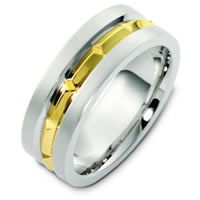 18K Two-Tone Gold Wedding Band.