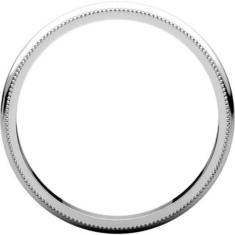 Item # TH238425PP - Platinum Comfort Fit 2.5mm Milgrain Edge Ring View-2
