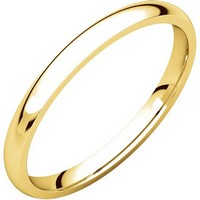 14K Gold 2mm Wide Comfort Fit Wedding Band