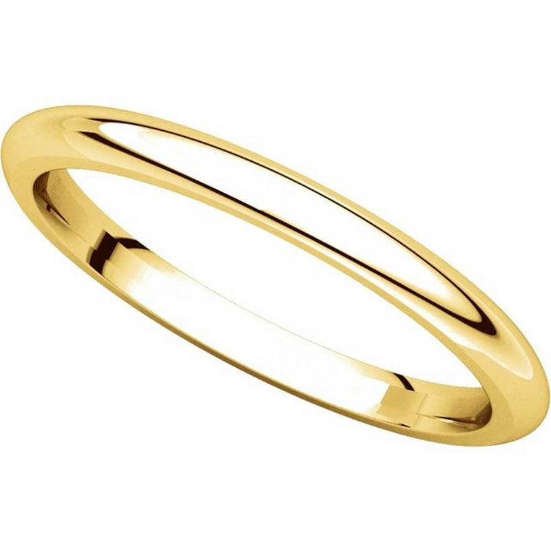 Item # UH123782 - 14K Gold 2mm Heavy Comfort Fit Plain Wedding Band View-4