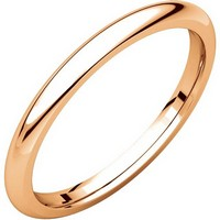 Item # UH123782R - 14K Rose Gold 2mm Heavy Comfort Fit Plain Wedding Band